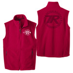 F219 - Buckeye SR-SR Pipestone Logo - EMB - Buckeye Council Seven Ranges Fleece Vest with Laser Etch Back