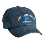 M128 - S1.1 - Emb - CP84 - Michigan Crossroads Council Sailing Garment Washed Cap