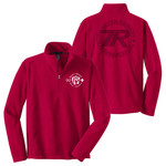 F218 - Buckeye SR-SR Pipestone Logo - EMB - Buckeye Council Seven Ranges Fleece 1/4 Zip Pullover with Laser Etch Back