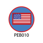 Pebble Patches - PEB010 - Flag